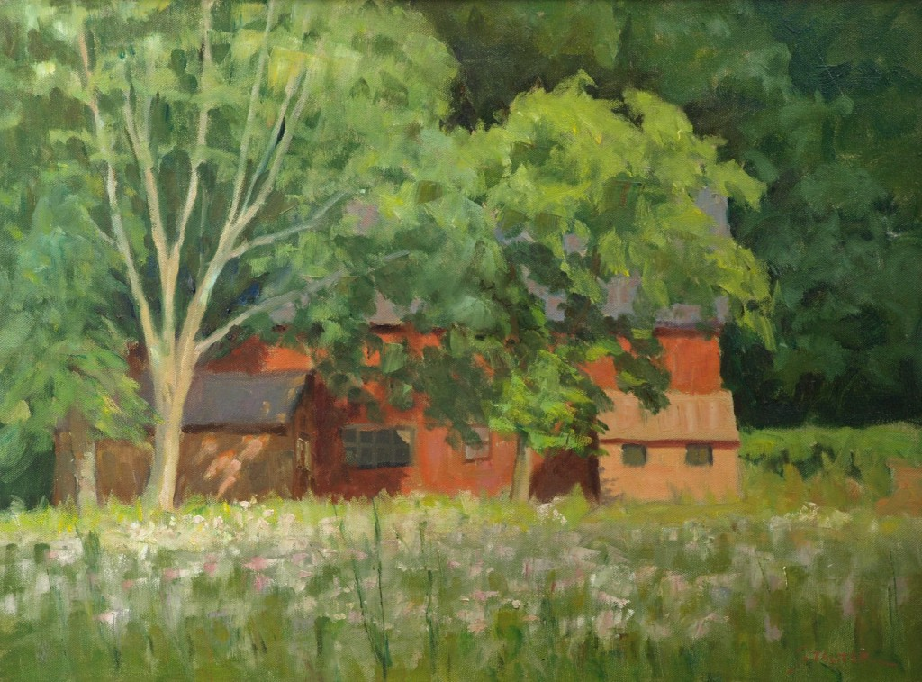 Kent Land Trust, Oil on Canvas, 18 x 24 Inches, by Richard Stalter, $650