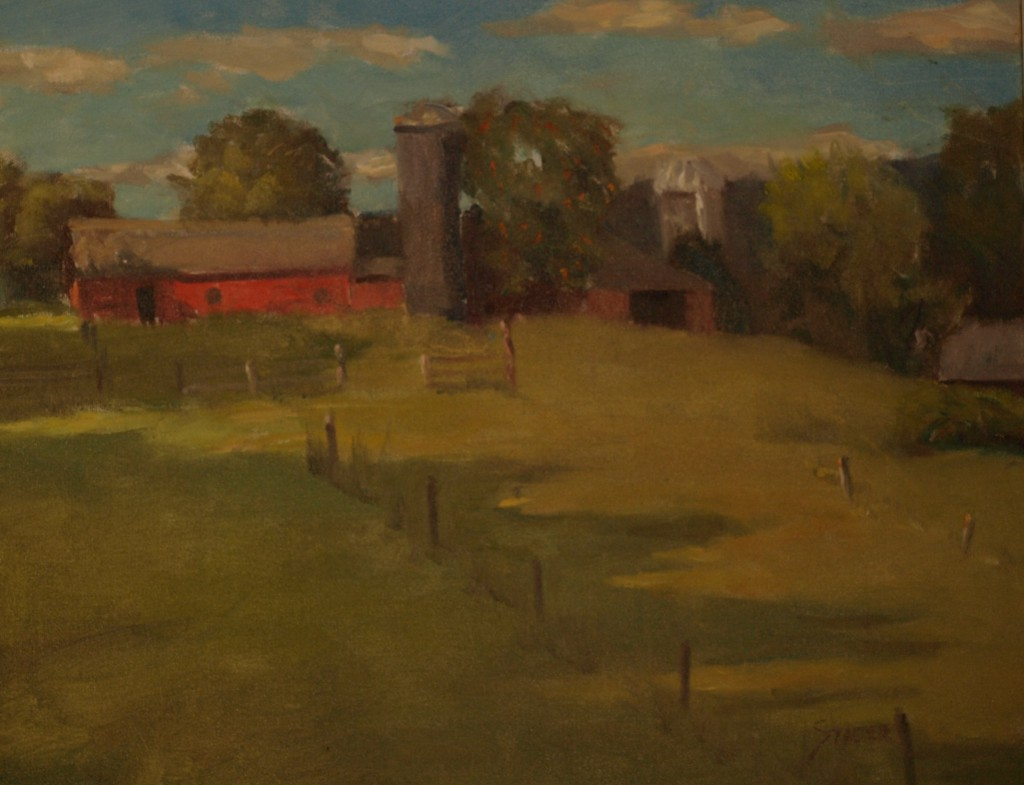 Pale Afternoon Shadows, Oil on Canvas, 16 x 20 Inches, by Richard Stalter, $650