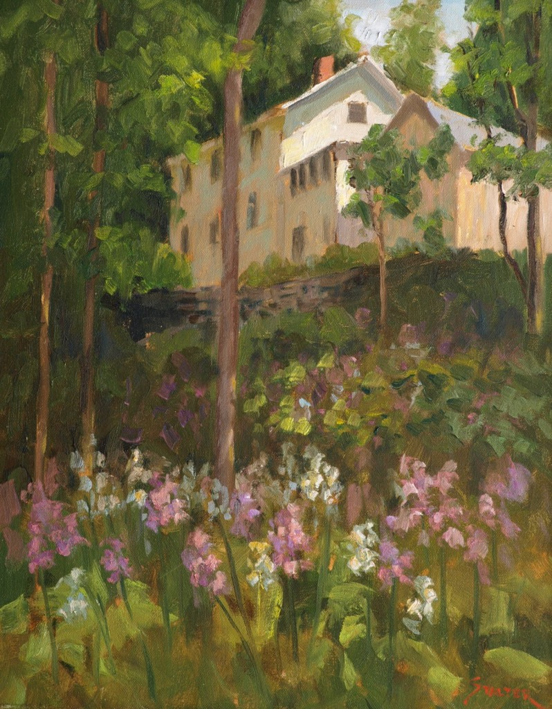 Phlox in the Valley, Oil on Canvas, 20 x 16 Inches, by Richard Stalter, $400
