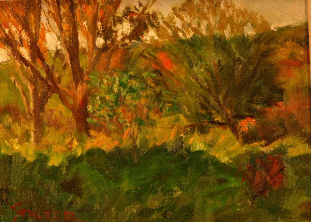Bright Sun and Shadow, Oil on Canvas on Panel, 9 x 12 Inches, by Richard Stalter, $225