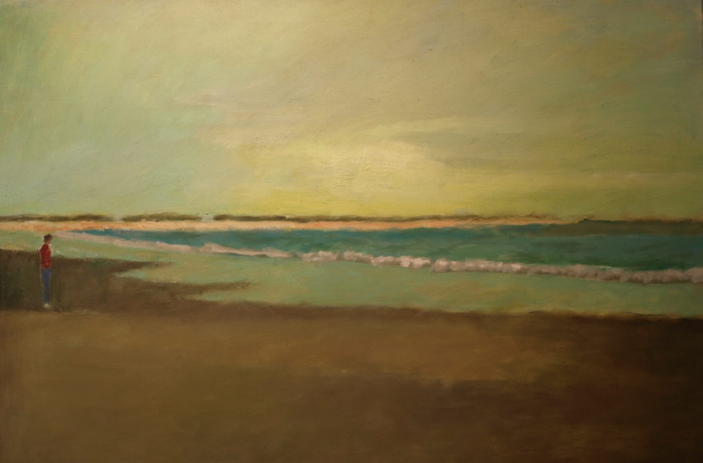 Cape Beach, Oil on Canvas, 24 x 36 Inches, by Richard Stalter, $1200