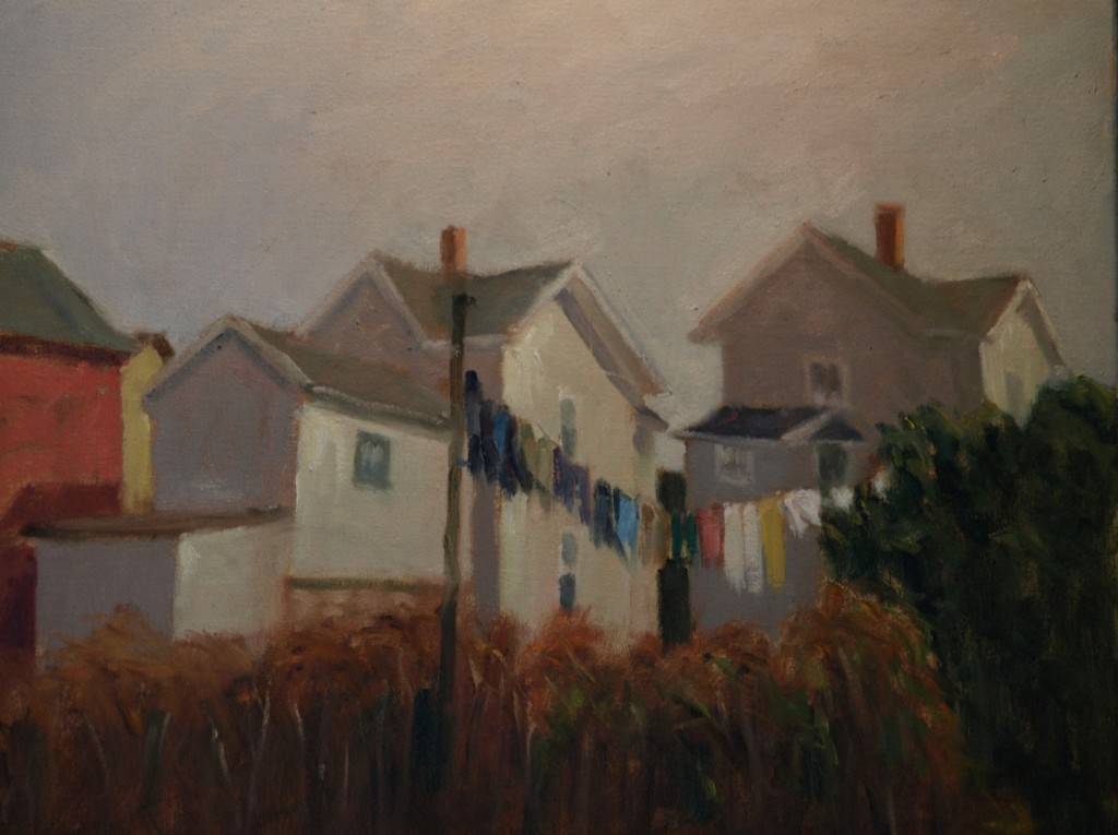 Clothesline, Oil on Canvas, 18 x 24 Inches, by Richard Stalter, $650