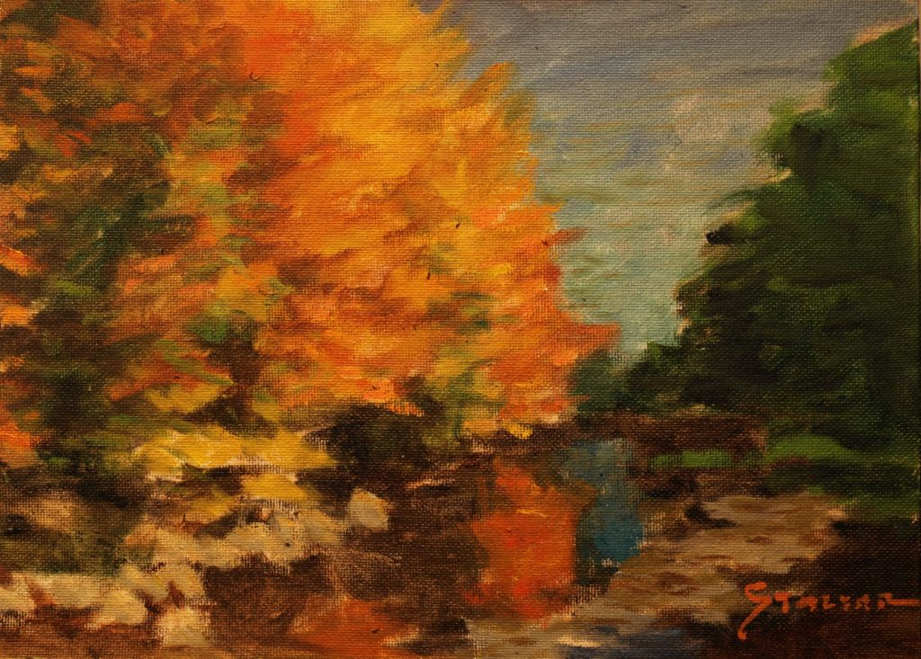 Fall Splendor, Oil on Panel, 9 x 12 Inches, by Richard Stalter, $225