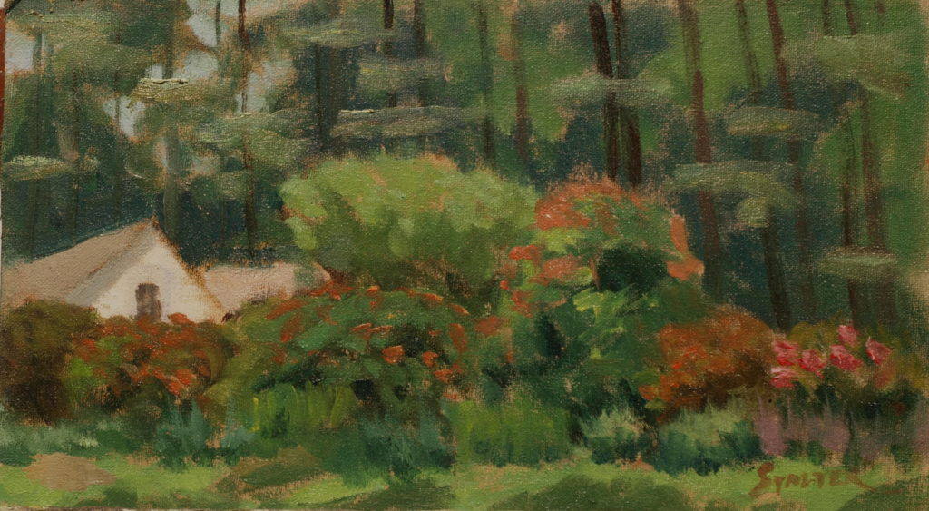 Harrybrooke Park, Oil on Canvas on Panel, 8 x 14 Inches, by Richard Stalter, $220