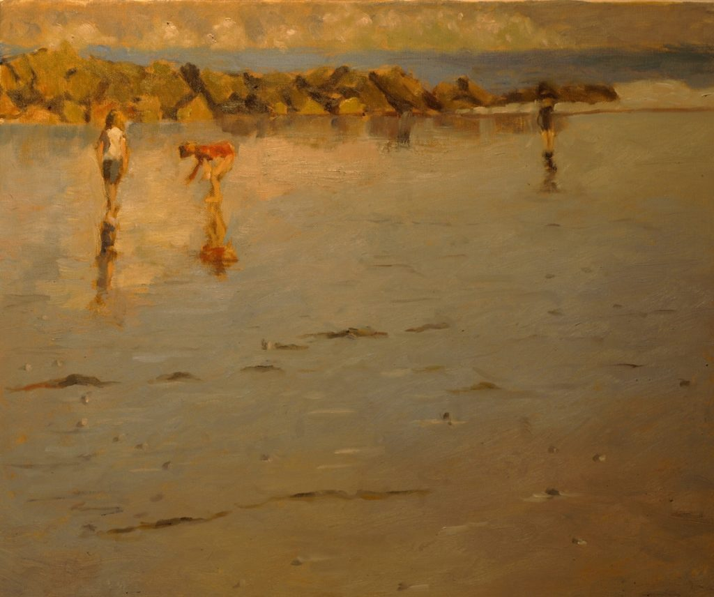 High Tide Second Beach, Oil on Canvas, 20 x 24 Inches, by Richard Stalter, $650