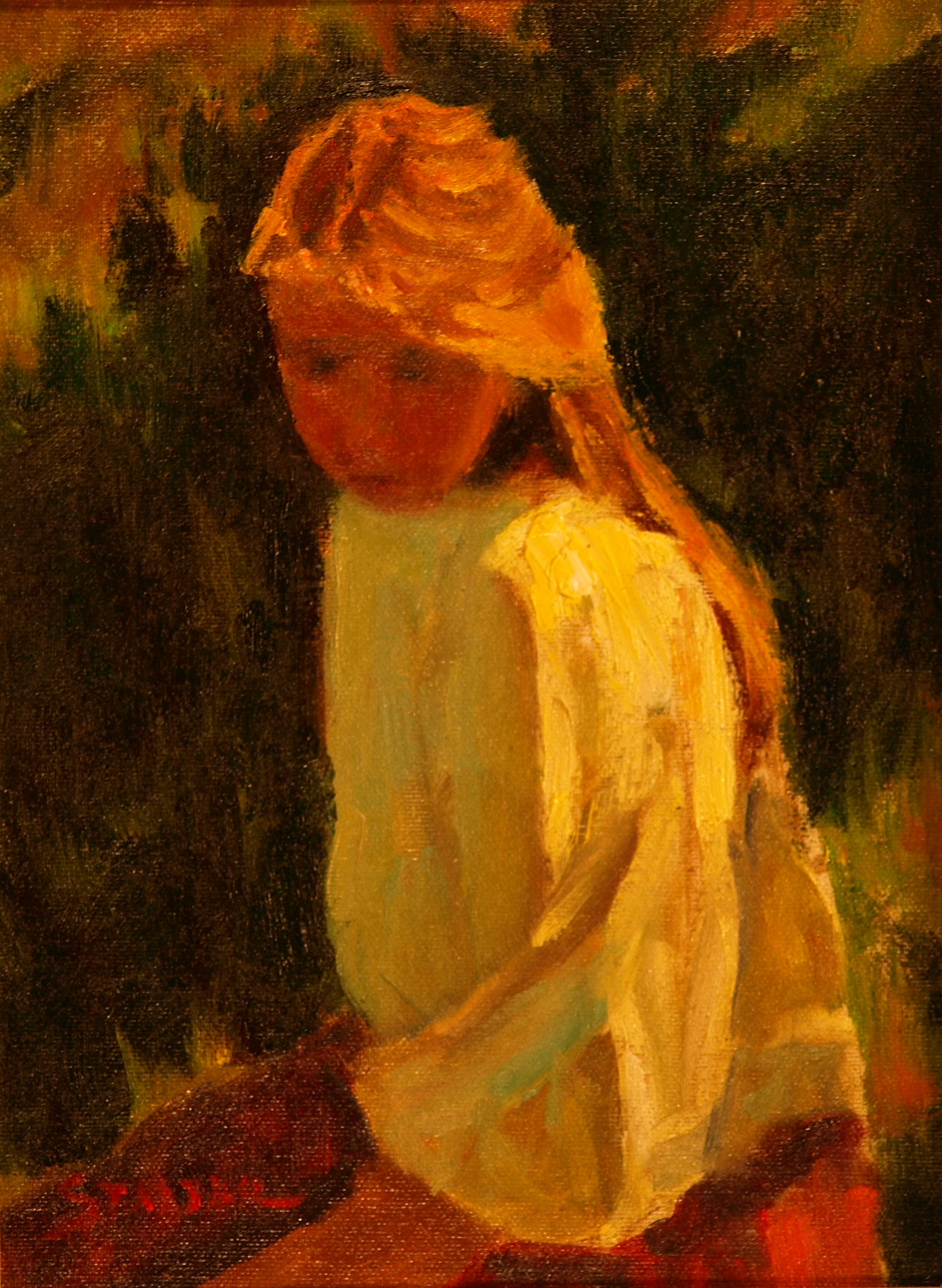 Lauren, Oil on Canvas on Panel, 12 x 9 Inches, by Richard Stalter, $225