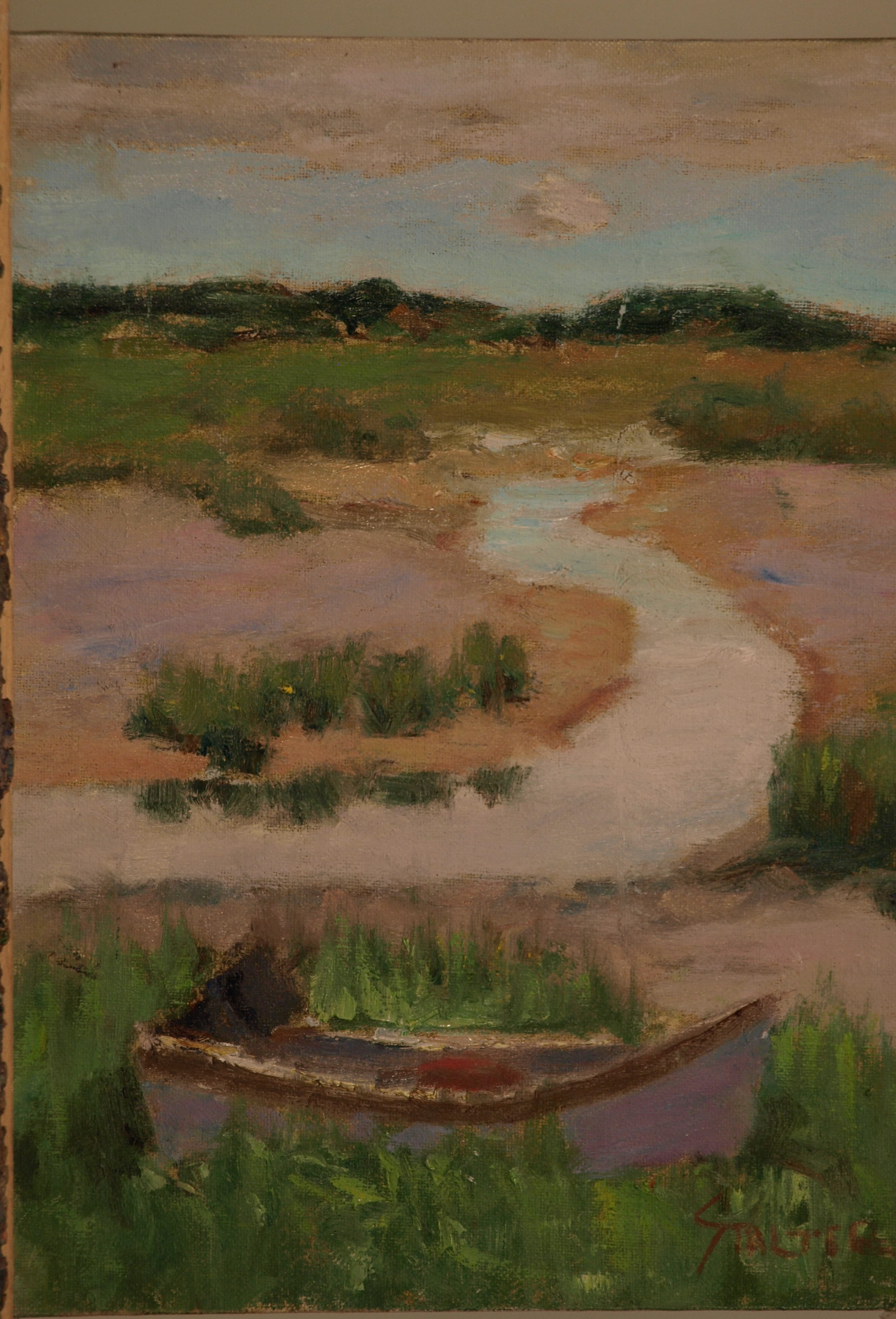 Low Tide -- Wellfleet, Oil on Canvas on Panel, 12 x 9 Inches, by Richard Stalter, $225