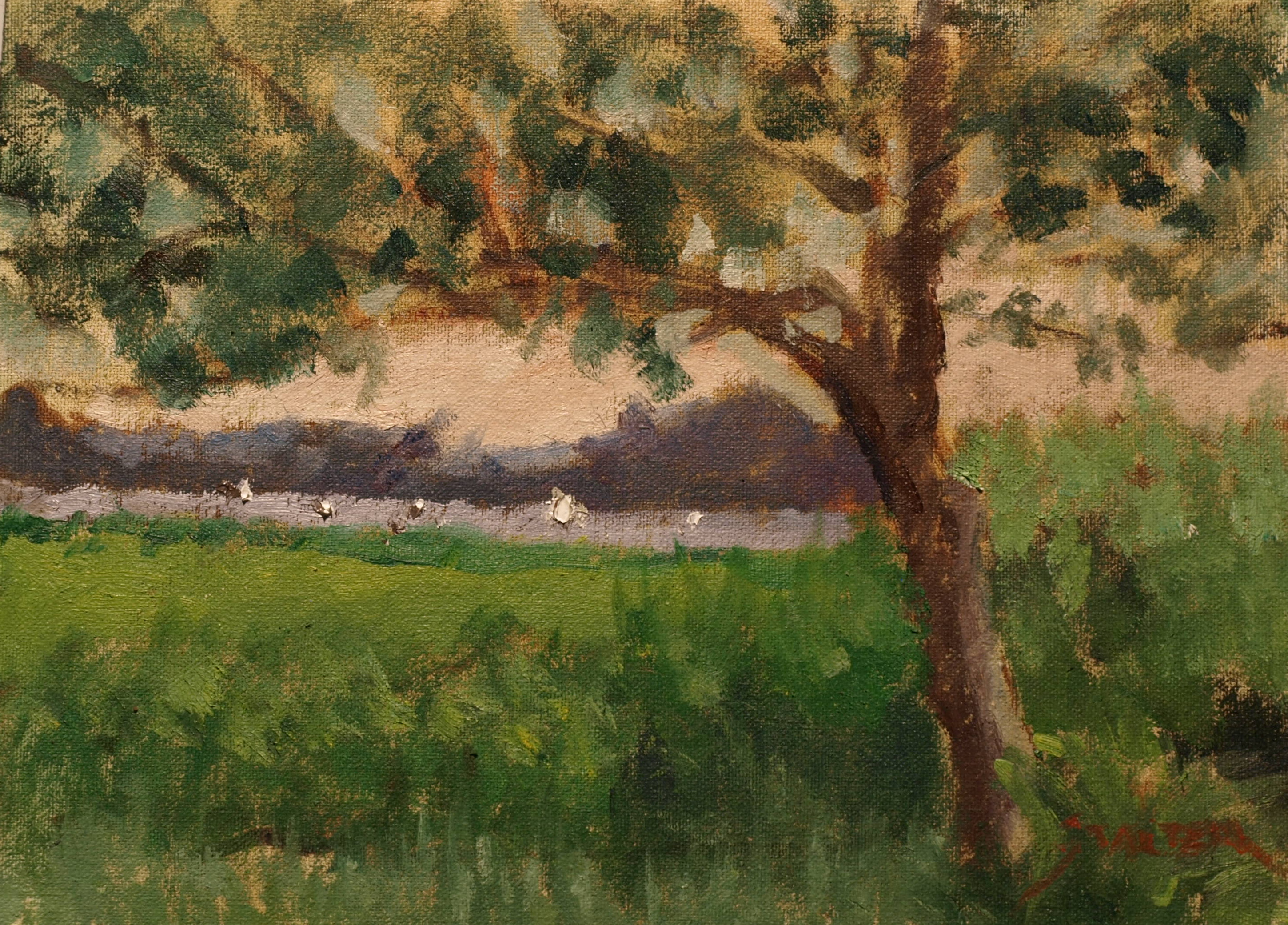 Mason's Island, Oil on Canvas on Panel, 9 x 12 Inches, by Richard Stalter, $220