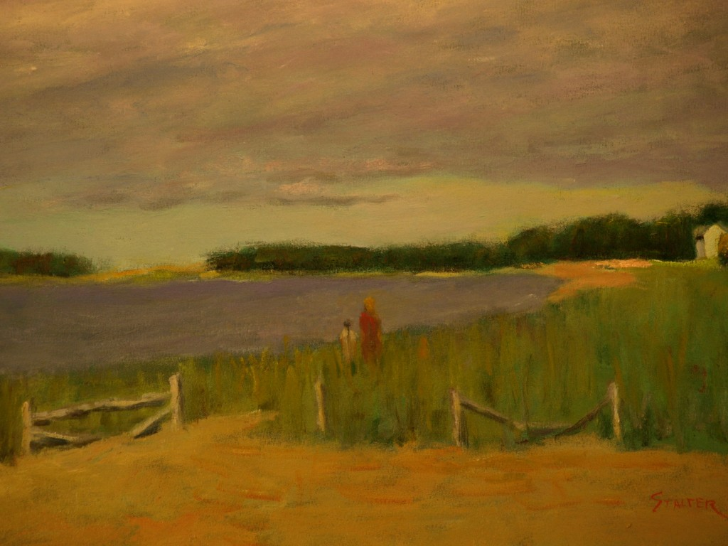 Overcast -- Wellfleet Beach, Oil on Canvas, 18 x 24 Inches, by Richard Stalter, $650