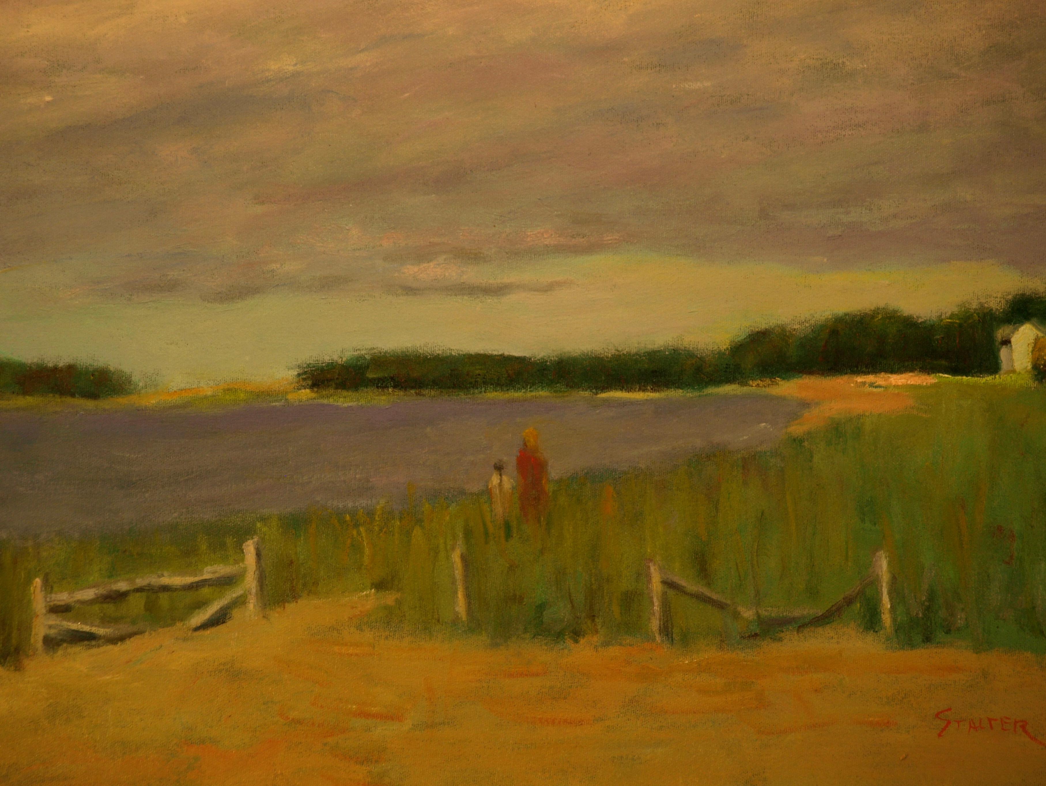 Overcast -- Wellfleet Beach, Oil on Canvas, 18 x 24 Inches, by Richard Stalter, $650