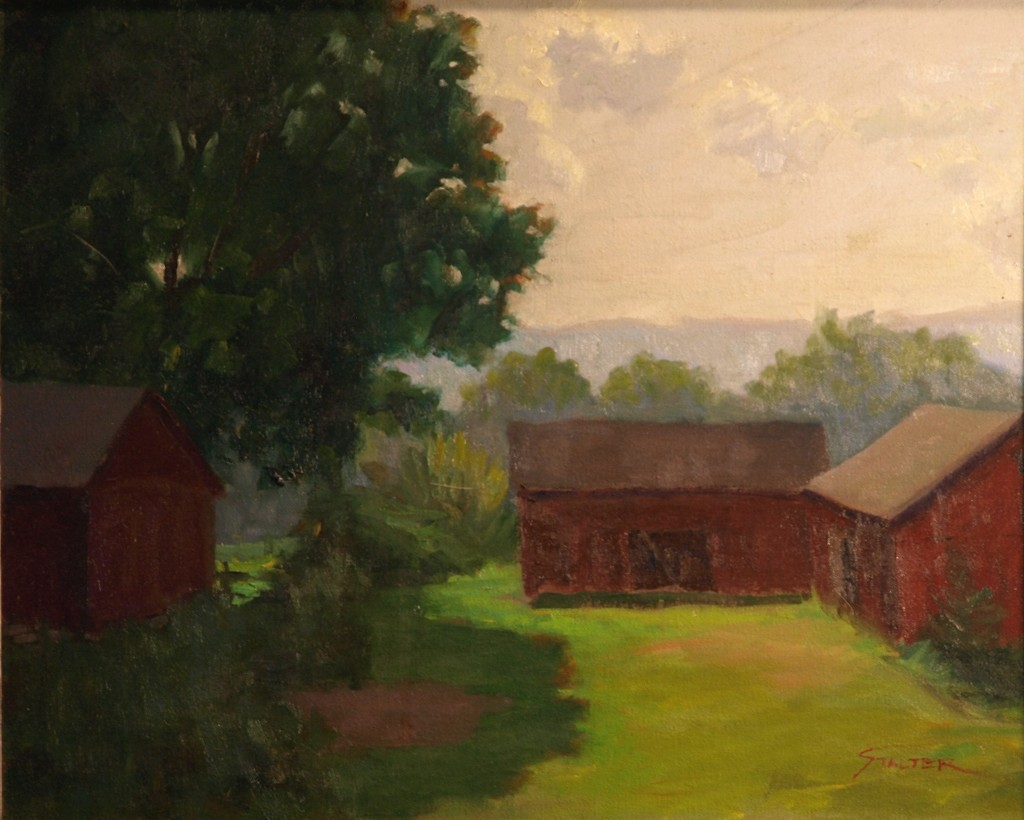 Summer Day at Osbourn's, Oil on Canvas, 16 x 20 Inches, by Richard Stalter, $450