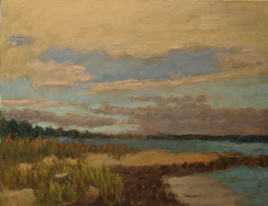 Sunny Day Land Trust, Oil on Canvas, 16 x 20 Inches, by Richard Stalter, $450
