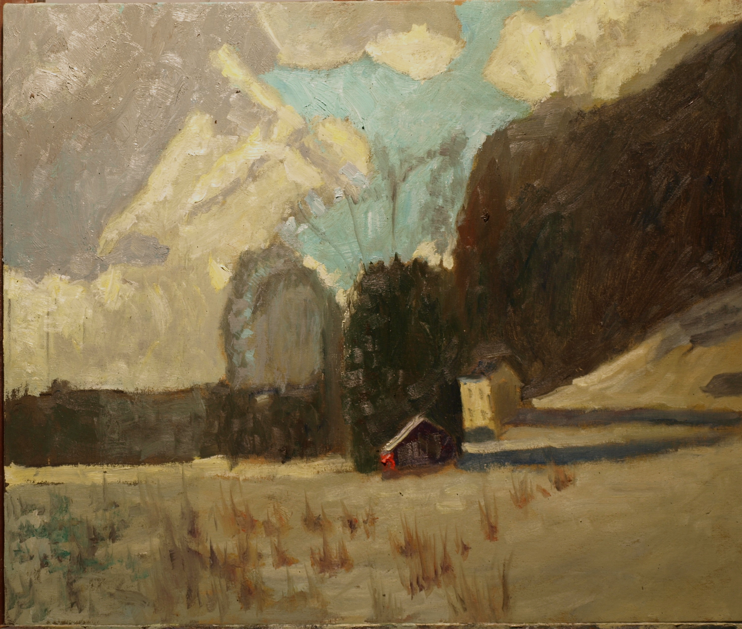 Troutman's, Oil on Canvas, 20 x 24 Inches, by Richard Stalter, $650