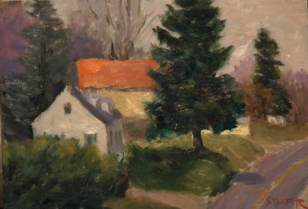 Wingdale, Oil on Canvas on Panel, 9 x 12 Inches, by Richard Stalter, $225