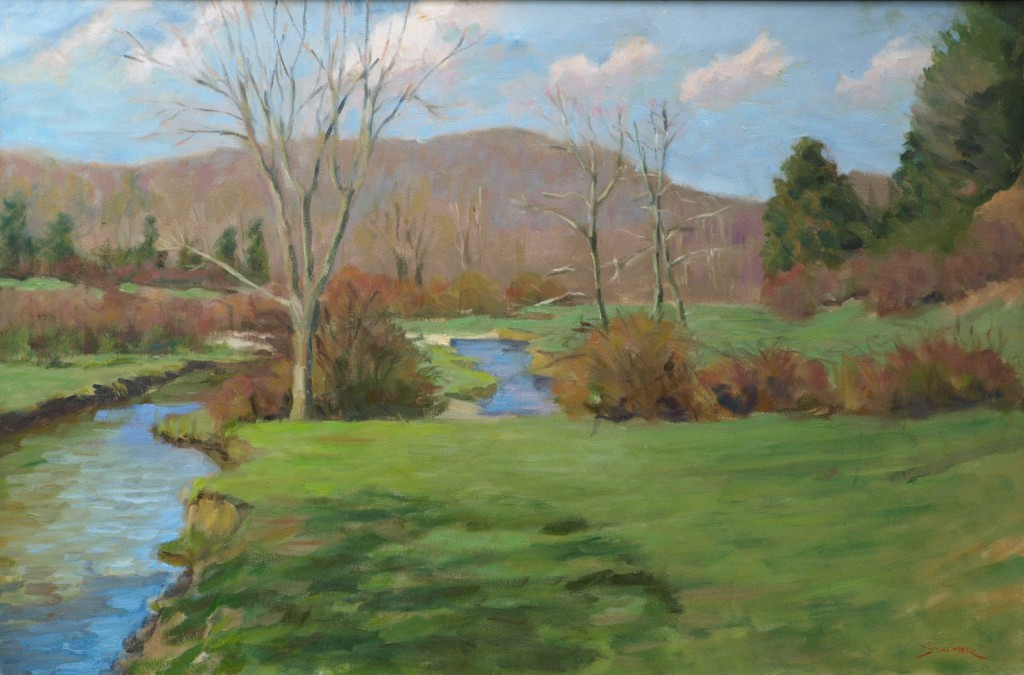 Spring Pasture - McGoldrick's, Oil on Canvas, 24 x 36 Inches, by Richard Stalter, $850