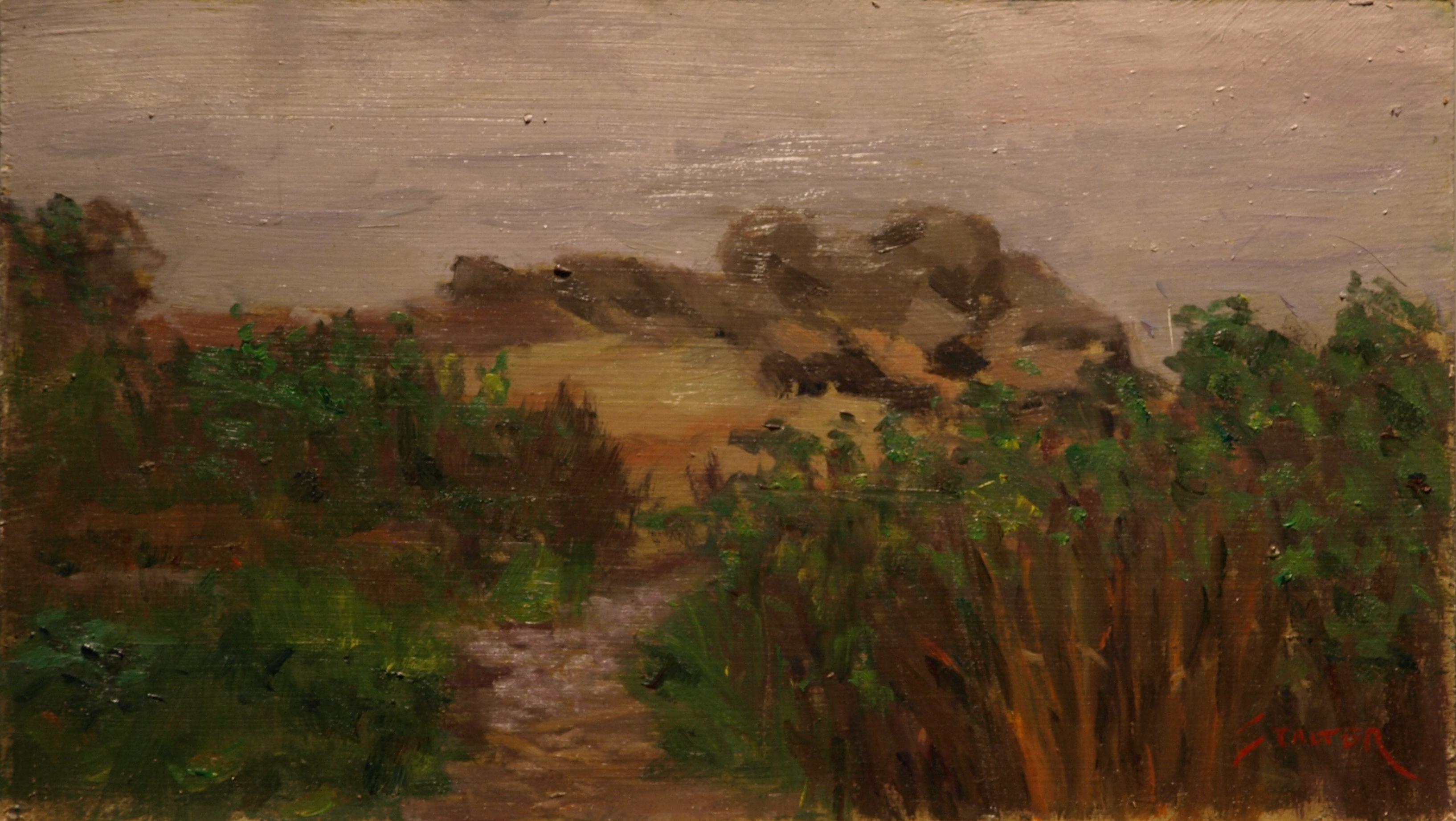 Stonington Marsh # 2, Oil on Linen on Panel, 8 x 14 Inches, by Richard Stalter, $225