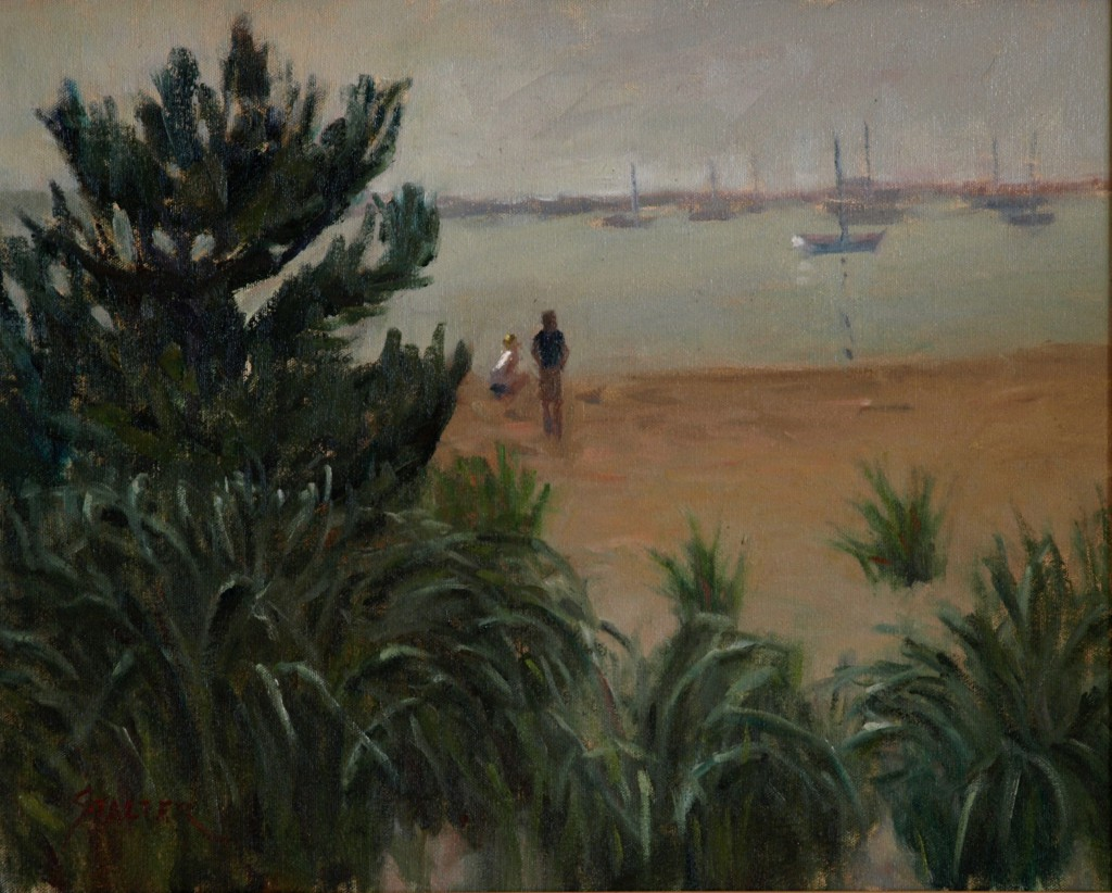 Stonington Beach, Oil on Canvas, 16 x 20 Inches, by Richard Stalter, $425